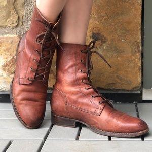 Frye Combat Boots, Size 8